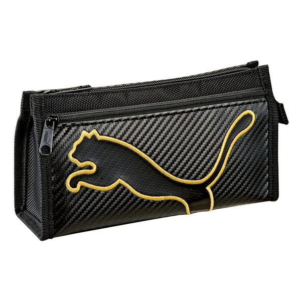 日本正版 PUMA 收納筆袋 運動型筆袋 防水筆袋 大容量 黑底黃邊 137488 藍 137495  分售