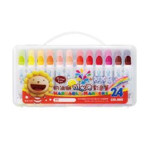 雄獅奶油獅可水洗彩色筆24色組