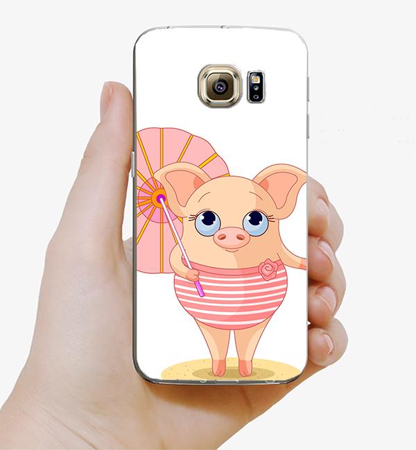 ♥ 俏魔女美人館 ♥Samsung Galaxy S7 {撐傘*水晶硬殼} 手機殼 手機套 保護殼