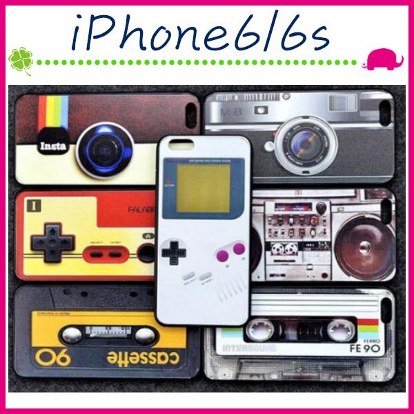 Apple iPhone6 6s 4.7吋Plus 5.5吋復古遊戲機手機殼卡帶背蓋GB搖桿保護殼相機保護套創意手機套
