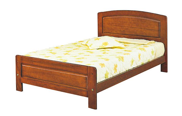 家事達OA-886-3歌麗雅柚木3.5尺單人床實木床板特價限送中部