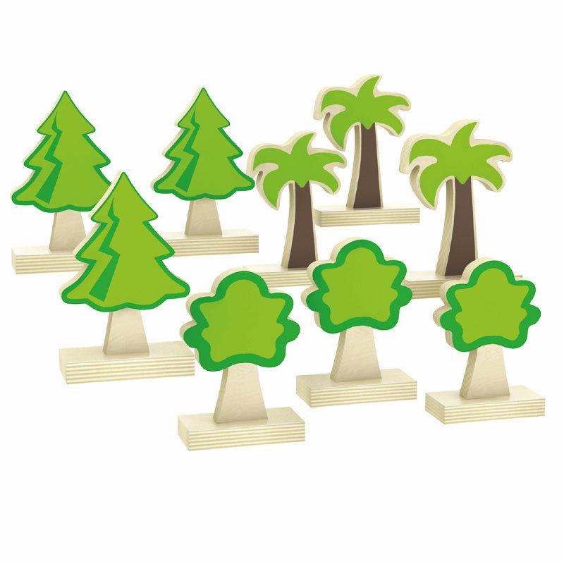 城市積木-野外樹木組華森葳兒童幼兒教具玩具遊戲社會扮演想像創造造型玩偶積木模型