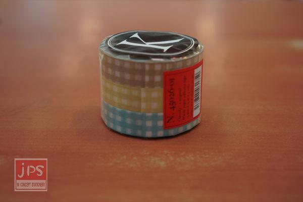 日本倉敷意匠和紙膠帶-格紋3入組13mm