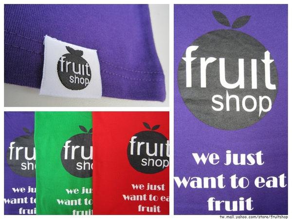 LOGO概念T圓領上衣‧三色‧棉T-【Fruit Shop】