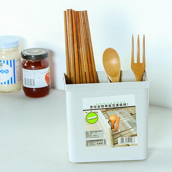 ♚MY COLOR♚分隔餐具收納盒 筷子 叉子 湯匙 清潔 廚房 餐桌 桌面 自由 飯勺【M126-2】