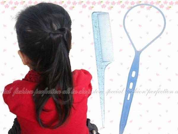 【EI410】編髮器 尖尾梳2入(彩色款)-小(兒童) 18543 花樣盤髮器.穿髮棒.編髮棒★EZGO商城★