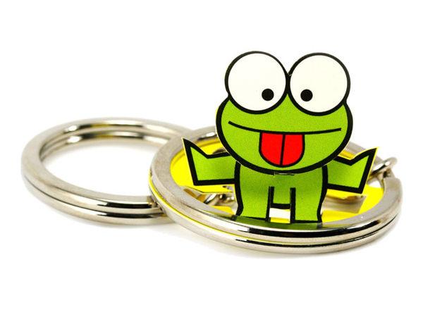 ☆猴子設計☆青蛙立體鑰匙圈