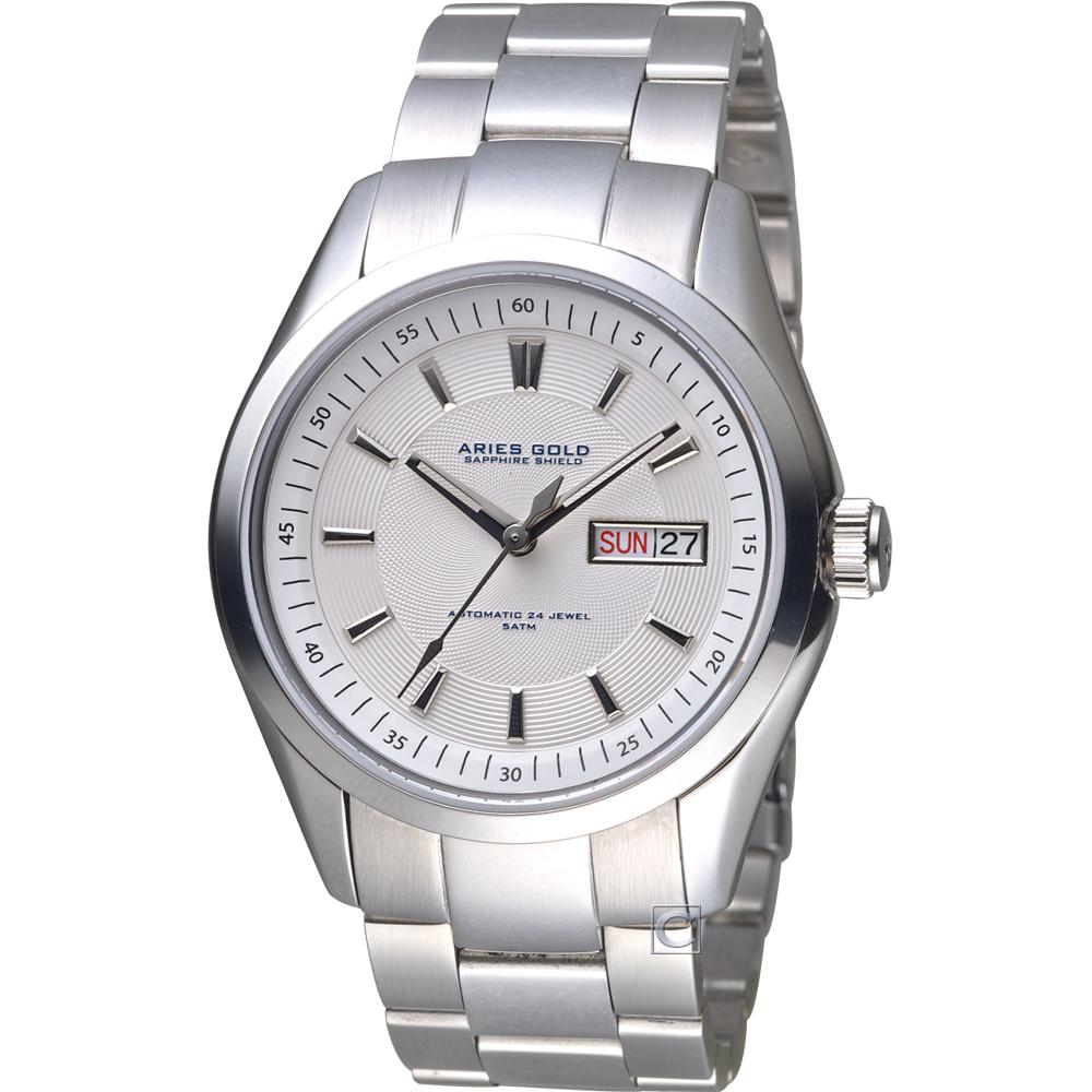 Aries Gold 雅力士城市系列領銜力量腕錶   G 9004 S-W