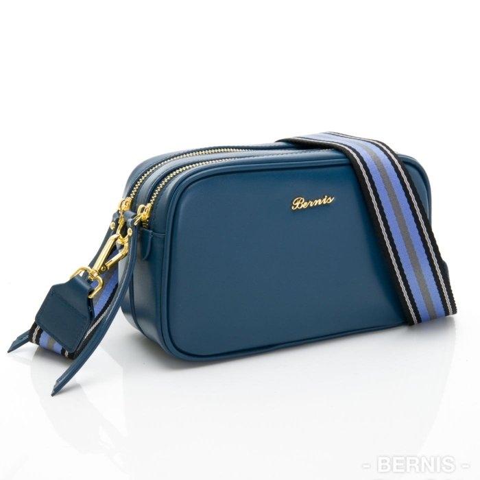 繽紛馬卡龍色系-靛藍色 雙拉鍊相機包 【BERNIS】貝爾尼斯(19062)