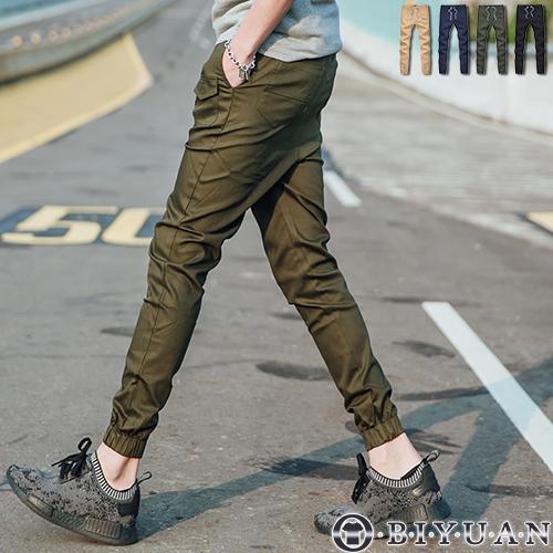 JOGGER工作褲T88892 OBI YUAN簡約側邊造型小口袋抽繩束口休閒褲共4色