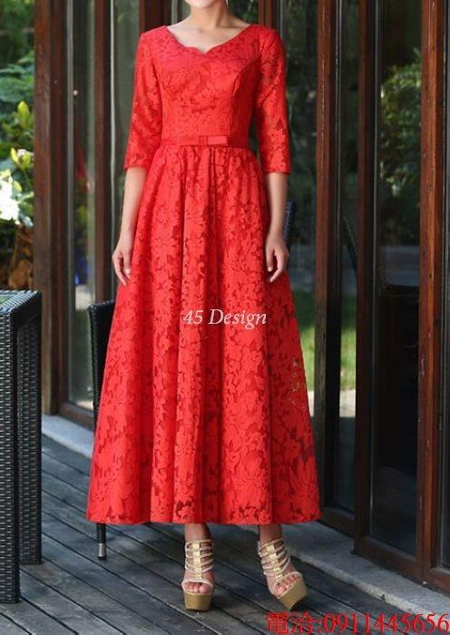 (45 Design)  7天到貨 長禮服伴娘禮服 結婚晚禮服姐妹裙長版禮服 韓式 洋裝 新娘敬酒服 連身裙7