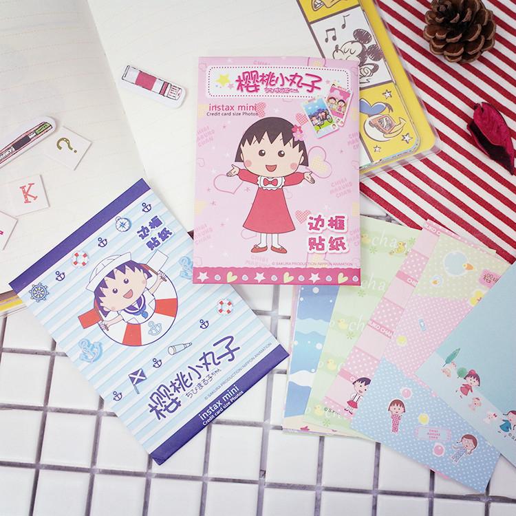 PGS7日本卡通系列商品櫻桃小丸子Maruko邊框貼紙裝飾Mini底片櫻桃子SHT61244