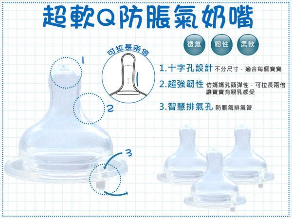 新上市【EA0007】台灣製寬口徑超軟Q防脹氣奶嘴/軟度同貝親母乳實感(同等級市售最低價)