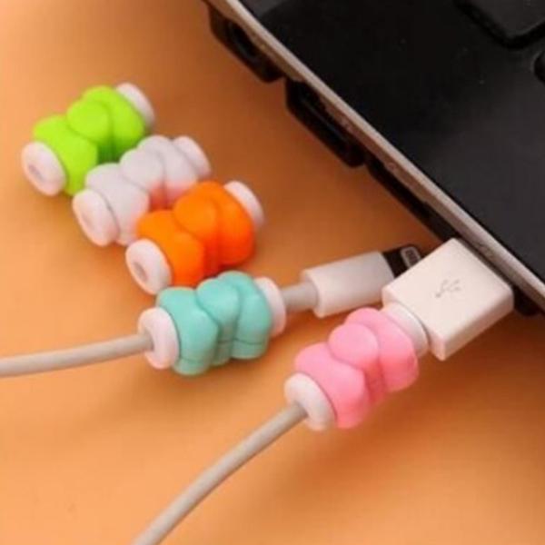 只要4元安卓蘋果傳輸線保護套I線套線保護套電源線套延長使用壽命-單個充電器保護繩