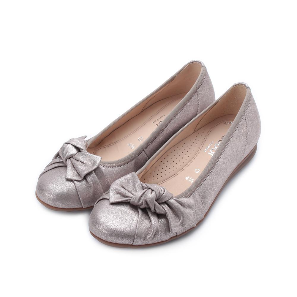 德國 GABOR GB抓皺結平底鞋 灰 22.629.62 女鞋