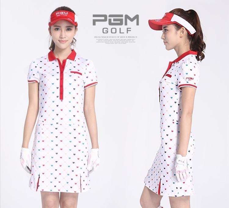 食尚玩家高爾夫連衣裙女士印花裙子夏季服裝收腰顯瘦