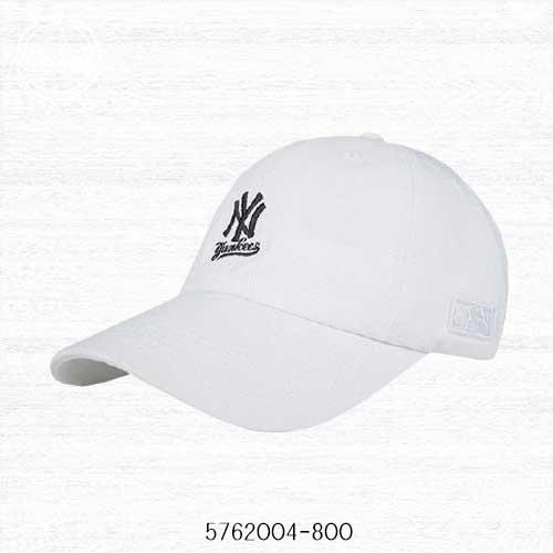【現貨折後438】MLB  美國大聯盟 洋基隊 棒球帽 老帽 小LOGO 白色 可調式 男女 5762004-800