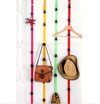 預購-居家可調節免釘高強度門背式掛鉤衣帽掛架