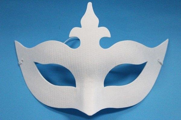十字半罩面具彩繪面具空白面具紙漿面具DIY面具附鬆緊帶一個入定40