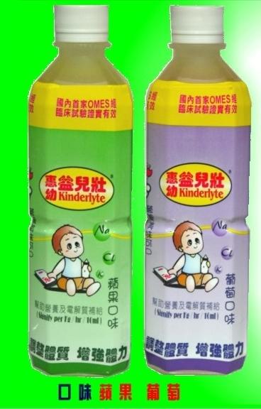 【益兒壯】電解質水 500ml/瓶(蘋果.葡萄.2種口味可選擇)