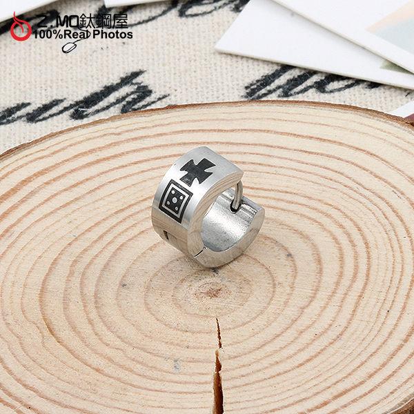 [Z-MO鈦鋼屋] C扣銀色醫療用耳環,簡易圖騰設計,抗過敏不生鏽,好友禮物推薦單只價【ECS043】