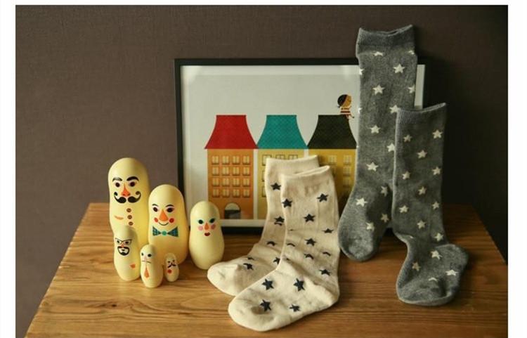 韓風童品韓國品牌嬰幼兒中筒襪棉質襪子星星款中筒襪子兒童中筒襪男童女童中筒襪子