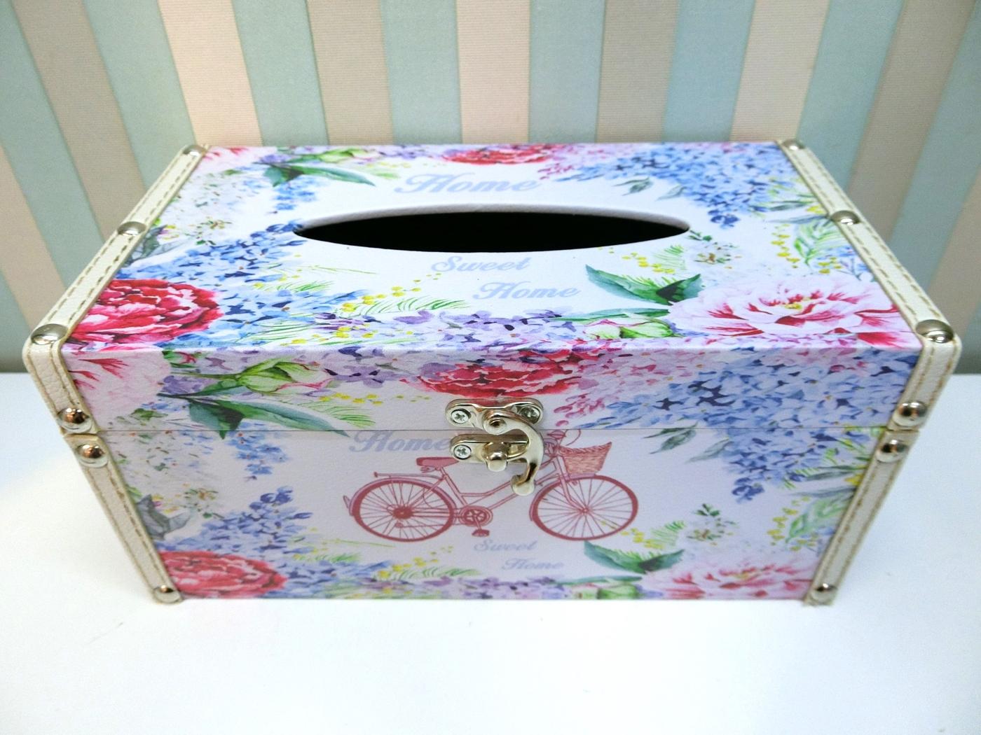 木製長形面紙盒LA49 ZAKKA腳踏車貼皮面紙盒皮革面紙盒木製面紙盒絢寓居家