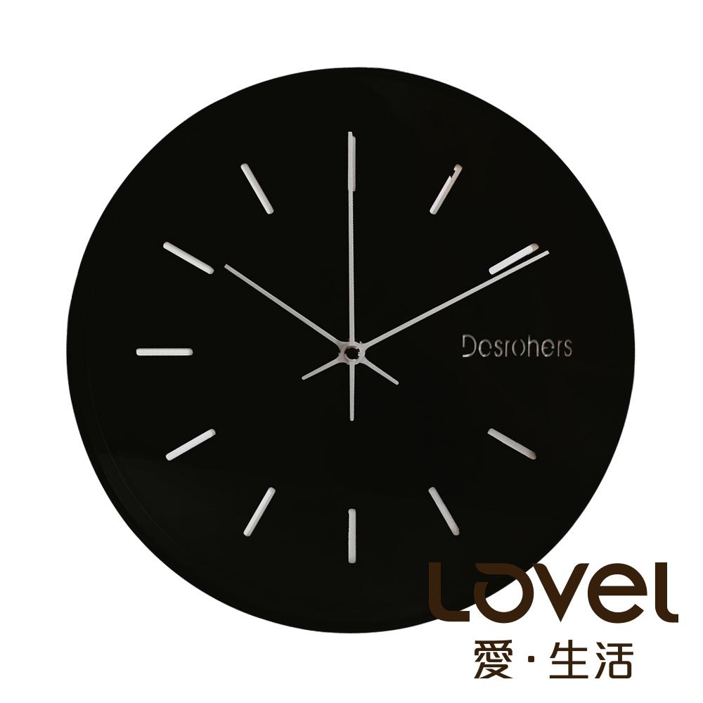 Lovel 25cm工業風鋁框靜音時鐘- 共2款