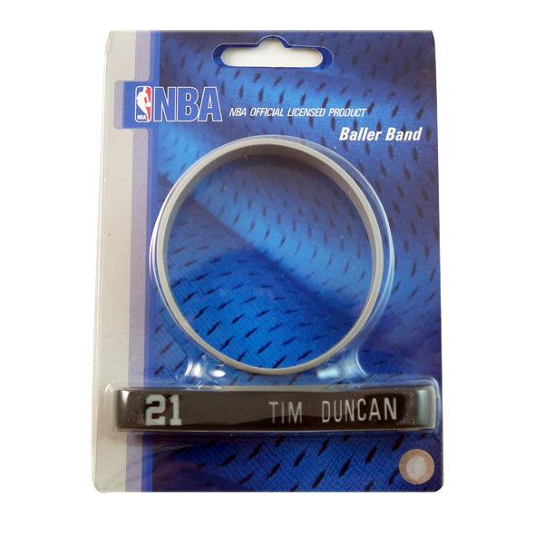NBA官方授權正版運動矽膠手環聖安東尼奧馬刺Tim Duncan鄧肯