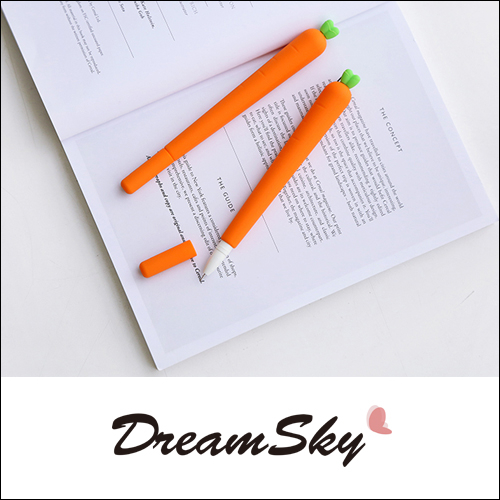 胡蘿蔔 中性筆 黑筆 紅蘿蔔 造型筆 原子筆 仿真 水性 矽膠 創意 療癒 文具 學生  DreamSky