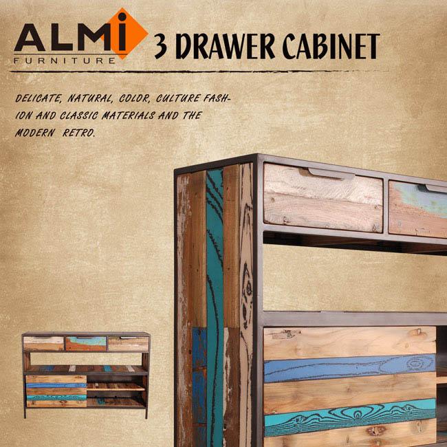 【ALMI】RECYCLED-SLIDING DOOR 三抽滑門餐櫥櫃