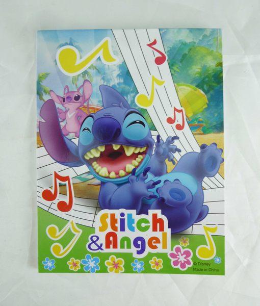 震撼精品百貨Stitch星際寶貝史迪奇~便條音樂