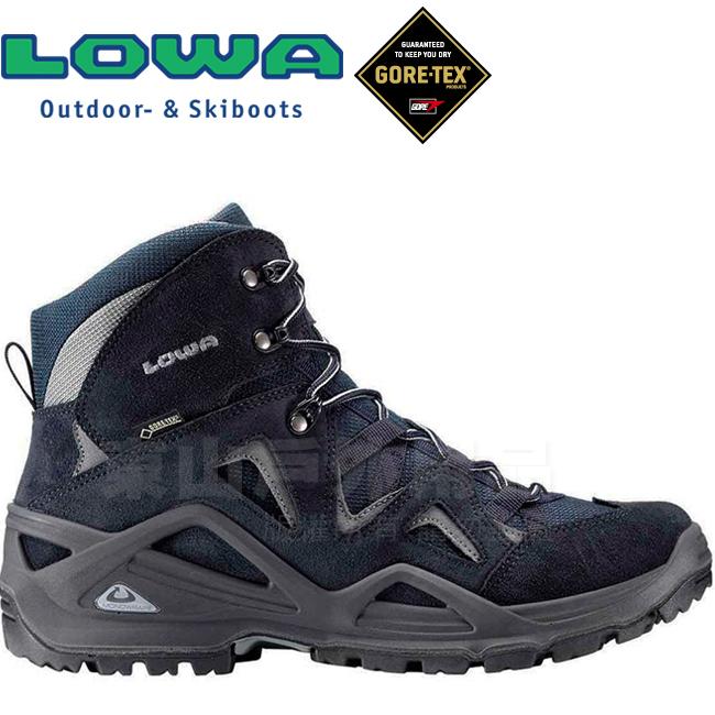 Lowa 310550-6930海軍藍男Gore-Tex中筒多功能登山鞋Zephyr Mid GTX防水健行鞋軍用靴軍靴