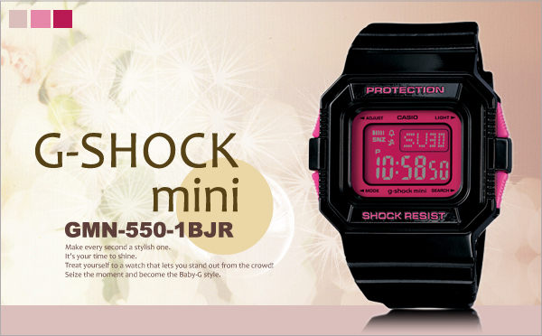 g-shock mini秒殺款gmn-550-1bjr日限g-shock現排單熱賣中