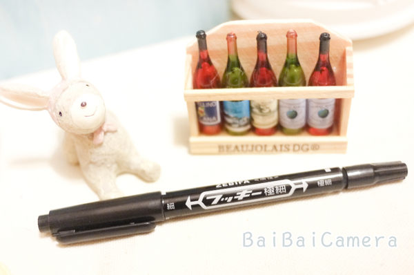 BaiBaiCamera 油性雙頭簽字筆(黑) 拍立得底片書寫專用筆 mini7s mini25 8 mini 50 90 空白 底片