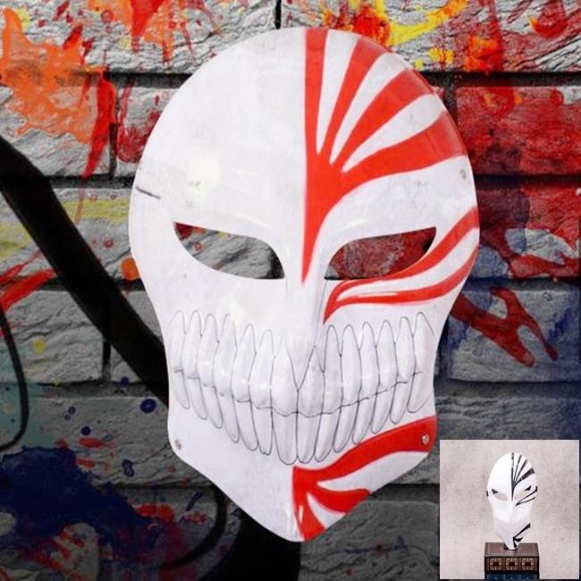 死神 (黑/紅兩色) 死神面具 黑崎一護 虛化 cosplay 動漫道具 一戶面具 鬼步舞面具【塔克】