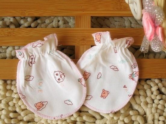 嬰兒純棉防抓傷手套(隨機款)一對裝 19元