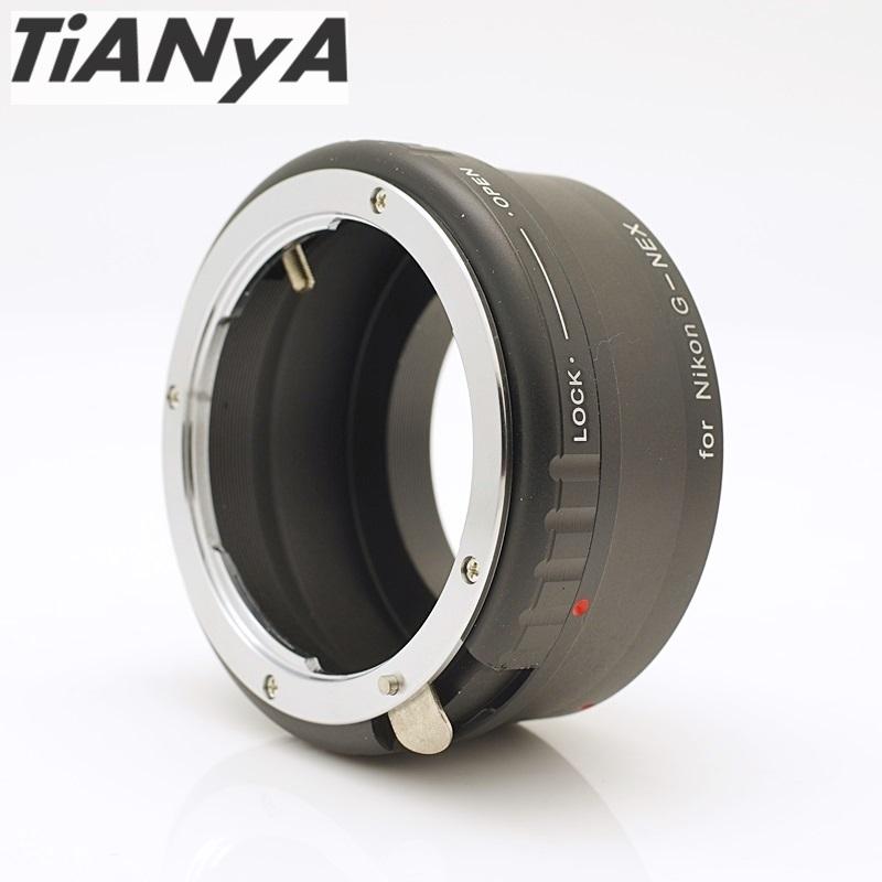 我愛買Tinaya天涯阻泥式轉接環Nikon G-NEX鏡頭轉接環G鏡可調光圈F卡口轉NEX接環NEX-5 NEX-6 NEX-7 a7 a6000