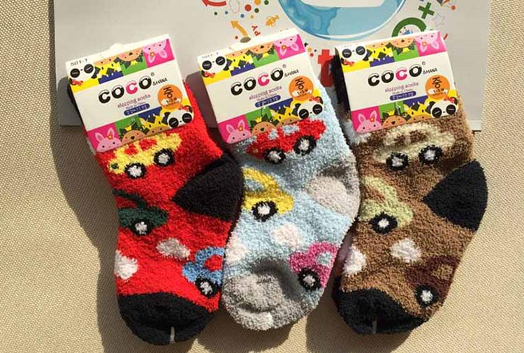 韓風童品冬季必備男女童汽車中筒襪保暖毛絨襪珊瑚絨襪厚棉襪子童襪極致保暖