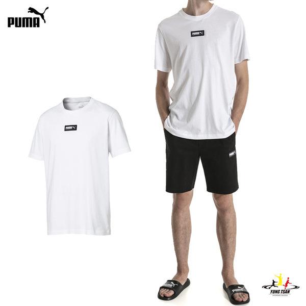 Puma Fusion 男 白 短袖 T恤 流行系列 運動上衣 短T 胸前小logo 休閒 上衣 84410702