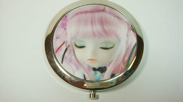 雙面鏡圓形3D立體娃娃圖案型一