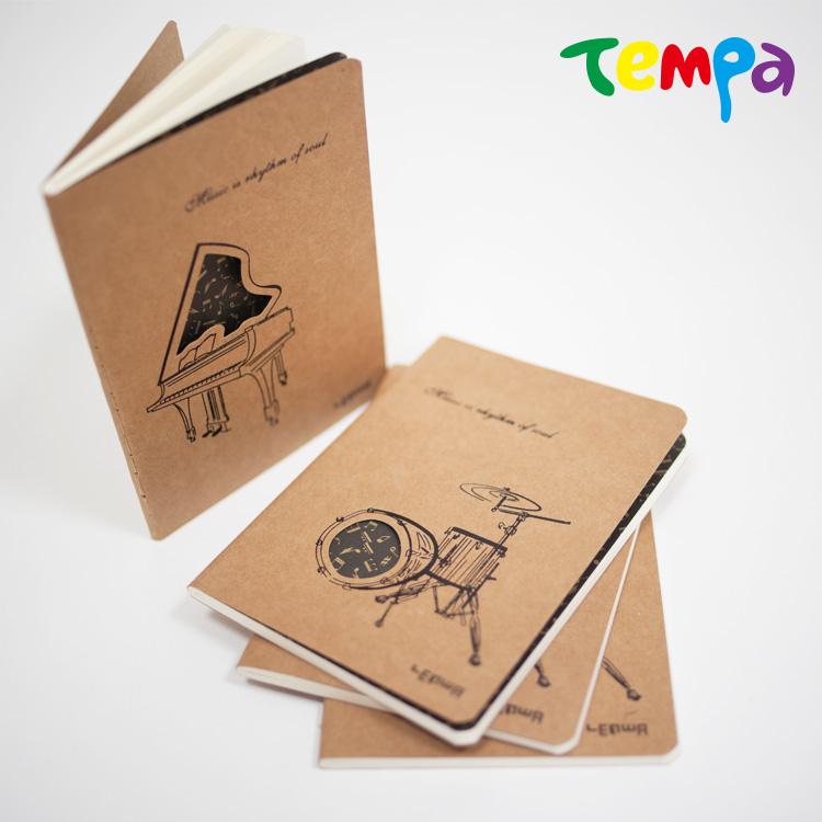 快速出貨-【Tempa】A6筆記本-鏤空樂器