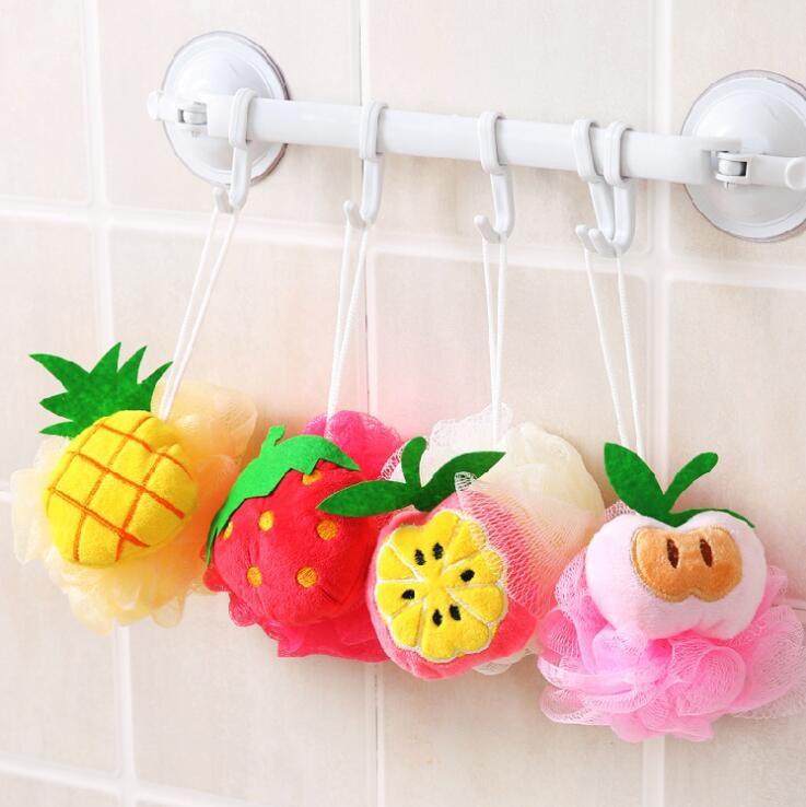 生活夯貨水果造型洗澡沐浴球浴花沐浴柔軟起泡球浴擦去角質搓澡