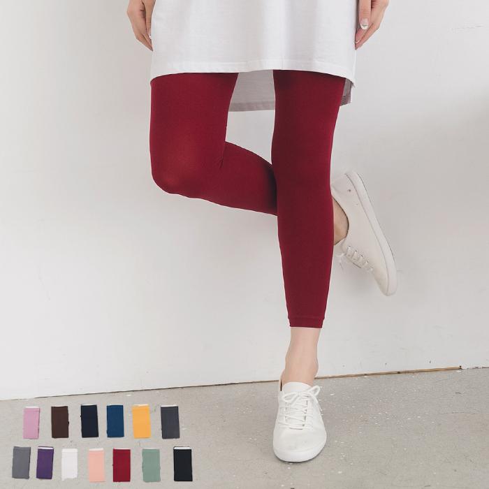 內搭褲120D超彈力顯瘦多色彈性窄管褲九分褲棉褲SV7018快樂生活網