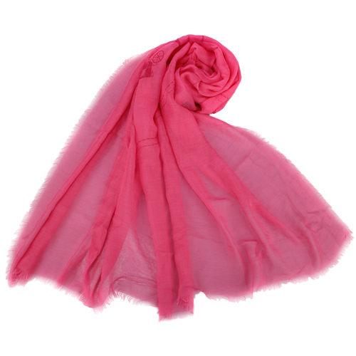 COACH經典大LOGO喀什米爾羊毛混紡薄披肩圍巾粉紅色190948-1