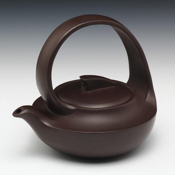 國家級工藝美術員宜興紫砂 曲壺180cc