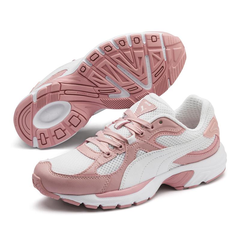 Puma Axis 90s 女 白粉 運動鞋 休閒鞋 網布鞋面 跑步 透氣 緩衝 輕盈 運動鞋 37028716