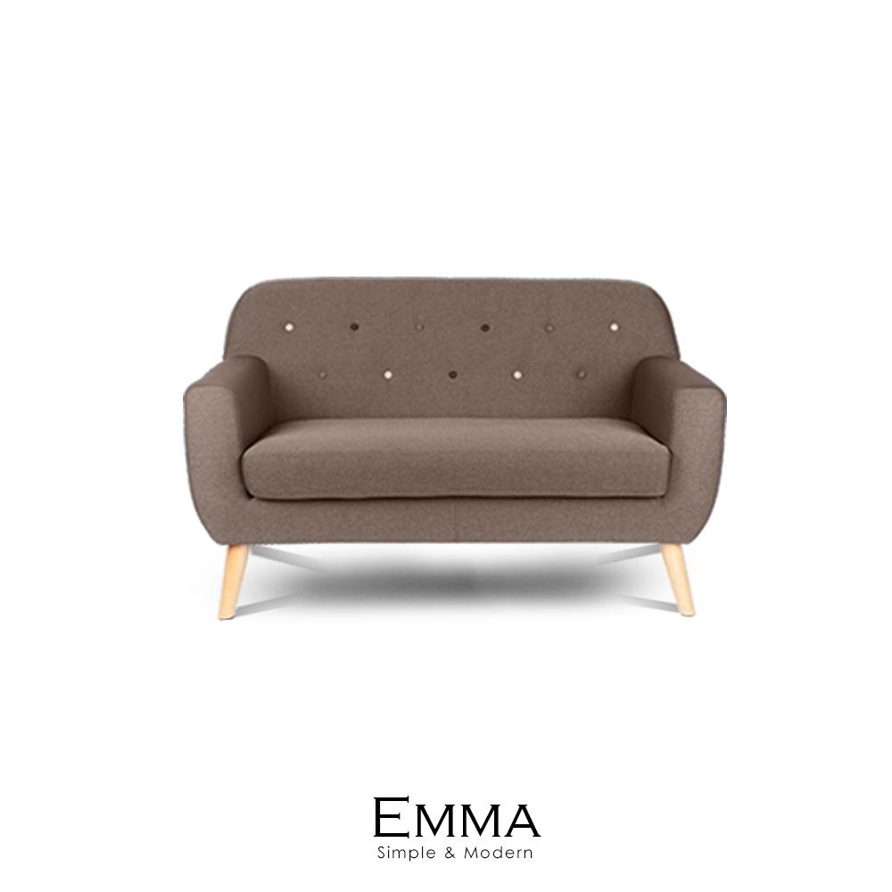 沙發 布沙發 EMMA鈕扣舞蹈布雙人沙發(LS/DAD-005)【obis】時尚家居
