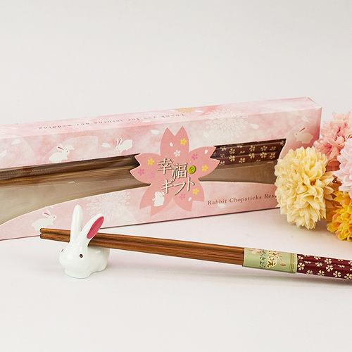 幸福婚禮小物可愛喜兔筷架組伴娘禮送客禮活動禮物桌上禮迎賓禮