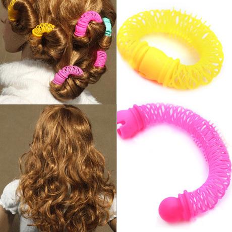 【Miss Sugar】【6入】甜甜圈髮圈/髮捲 快速熱吹捲髮器  6入